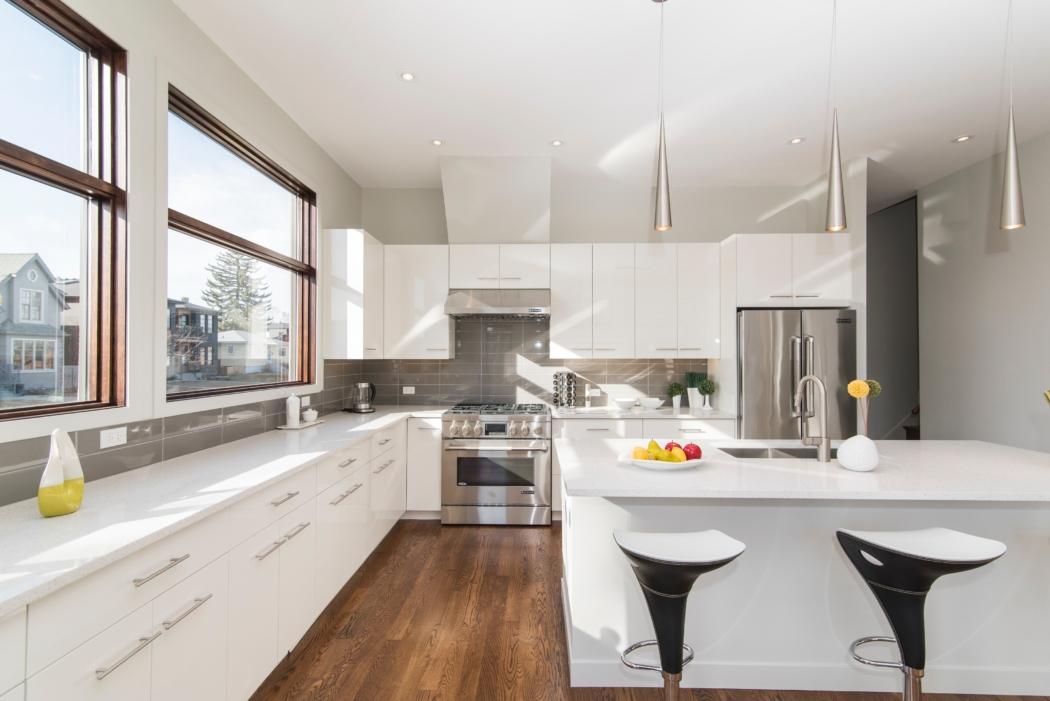 une cuisine avec un style moderne