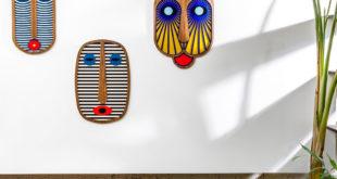 masque mural ethnique