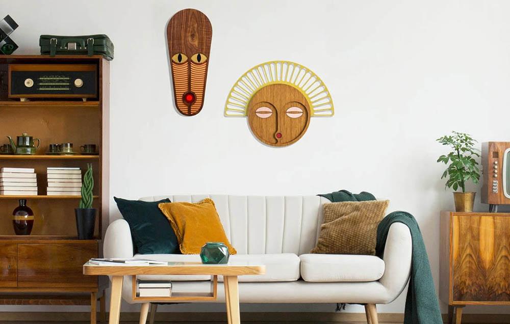 masque mural