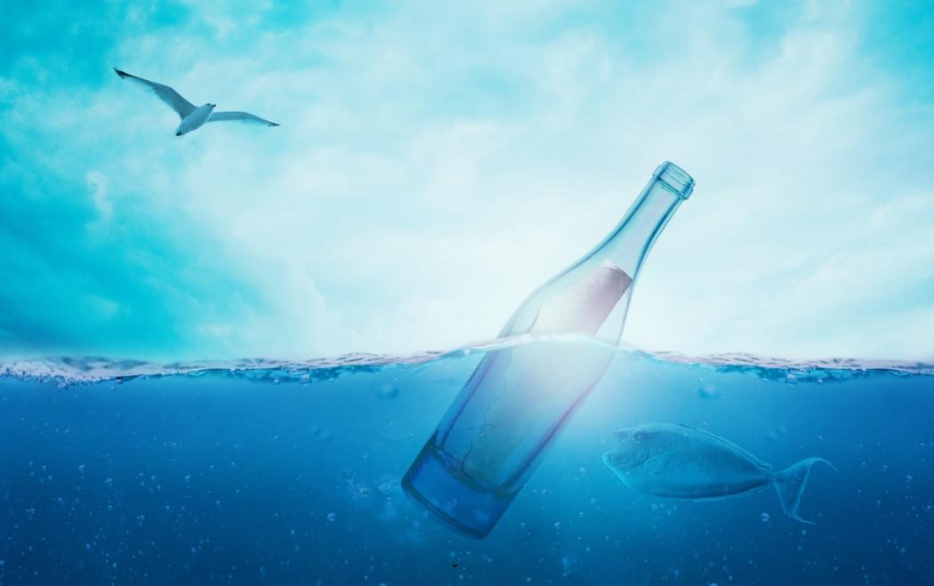 image bouteille a la mer