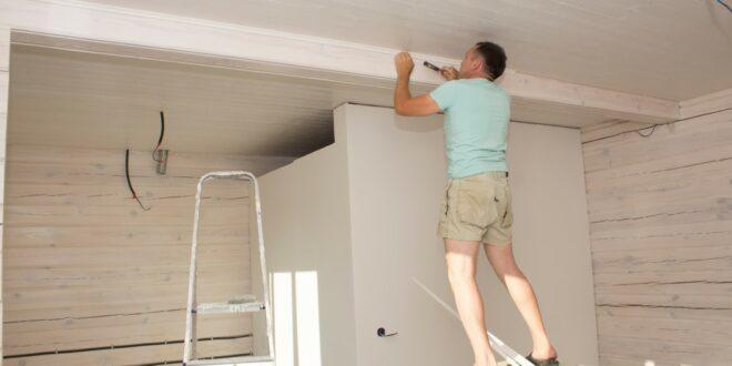 rénovation plafond plaque