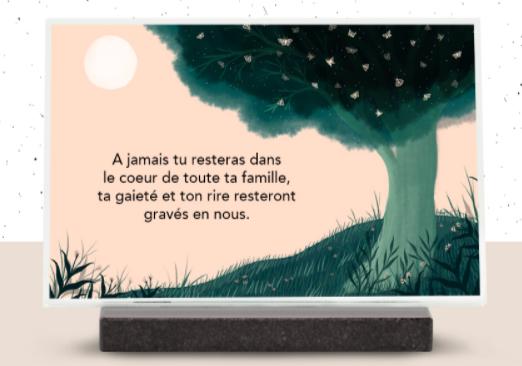 édition limitée iqoniq plaque funéraire